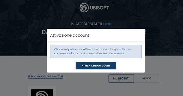 Attiva account Ubisoft