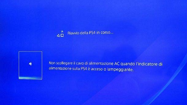 Riavvio PS4