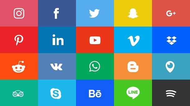 Loghi e icone dei social network