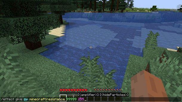 Effetto resistenza su Minecraft
