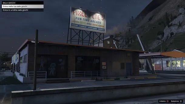 Entrata sala giochi GTA Online