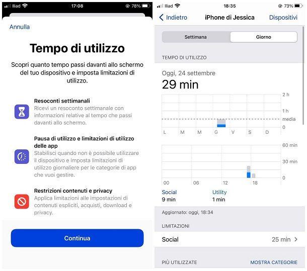 Come vedere il tempo di utilizzo di iPhone