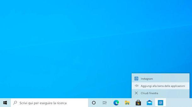 Collegamento applicazioni taskbar su Windows 10