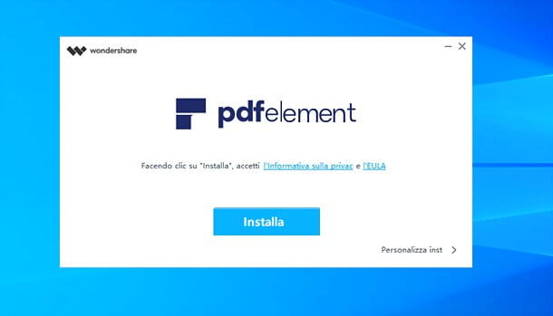 Installazione di Wondershare PDFelement su Windows