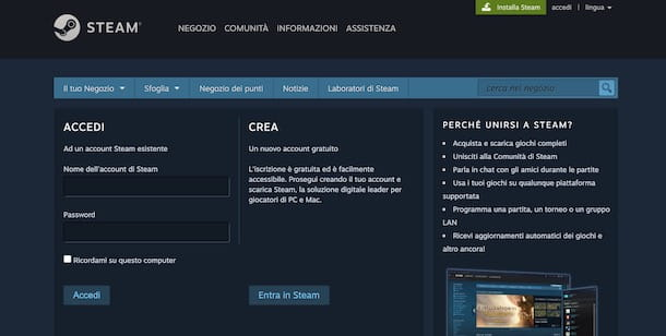 Come creare secondo account Steam