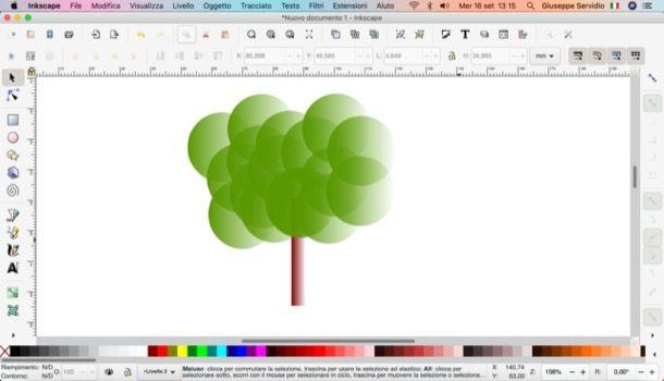 Disegno realizzato con Inkscape