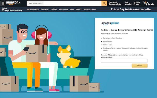Amazon riscatto codici