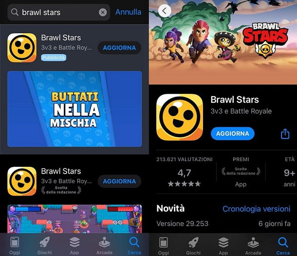 Come aggiornare Brawl Stars per iPhone e iPad