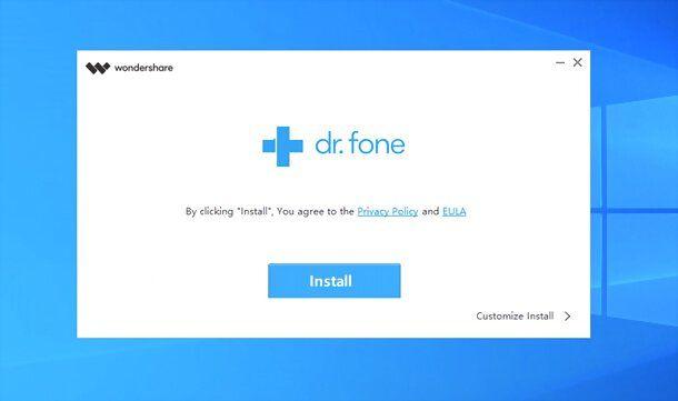 Installazione Wondershare Dr.Fone su Windows