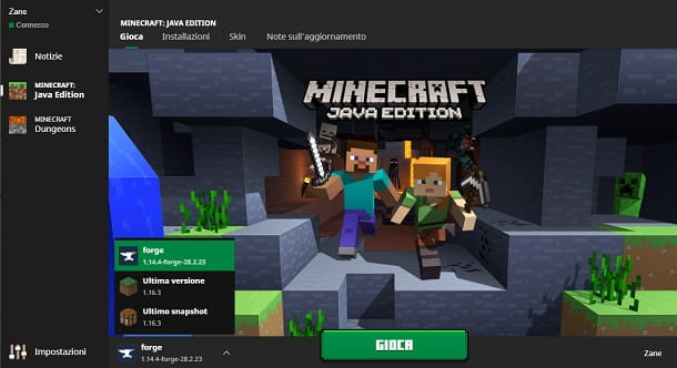 Versione Minecraft