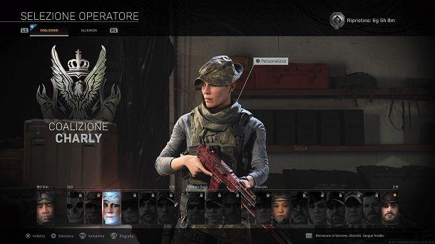Charly operatore Call of Duty Modern Warfare