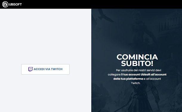 Accedi via Twitch Ubisoft