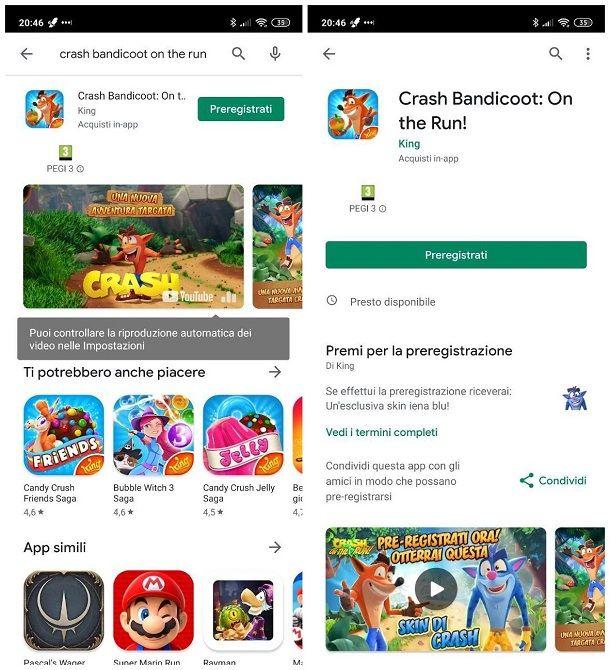 Come installare Crash Bandicoot su Android