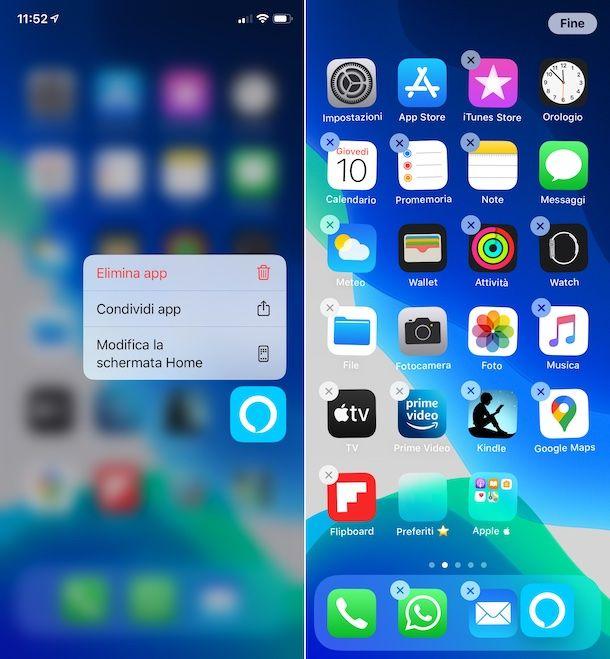 Schermata Home iOS