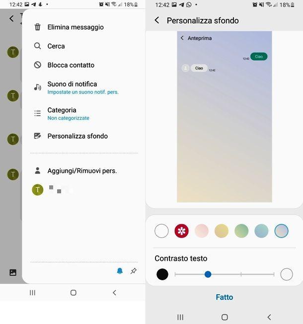 Come personalizzare lo sfondo dei messaggi su Samsung