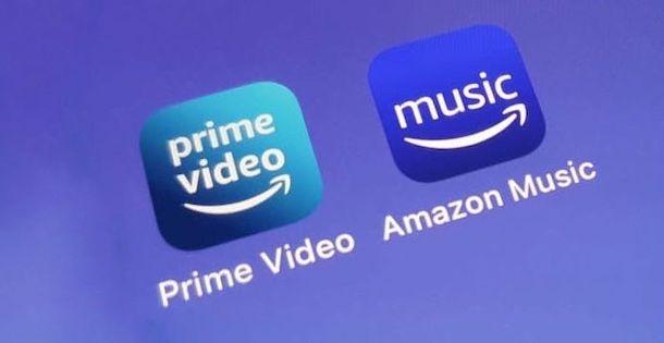 App Amazon Prime Video e Amazon Music