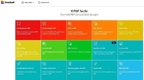 Condividere un link PDF con Smallpdf online