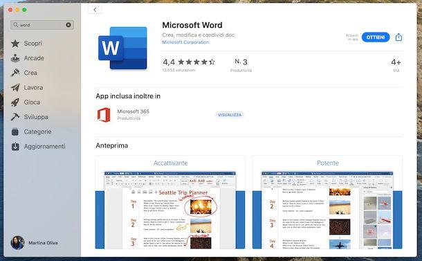 Word Mac App Store