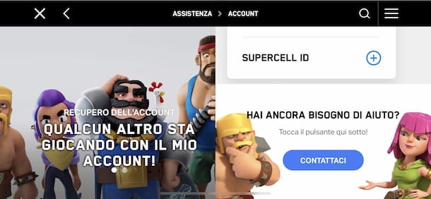 Eliminare Supercell ID da Clash of Clans