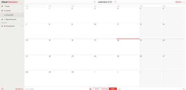 Calendario iCloud