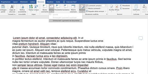 Salvare un documento Word senza commenti