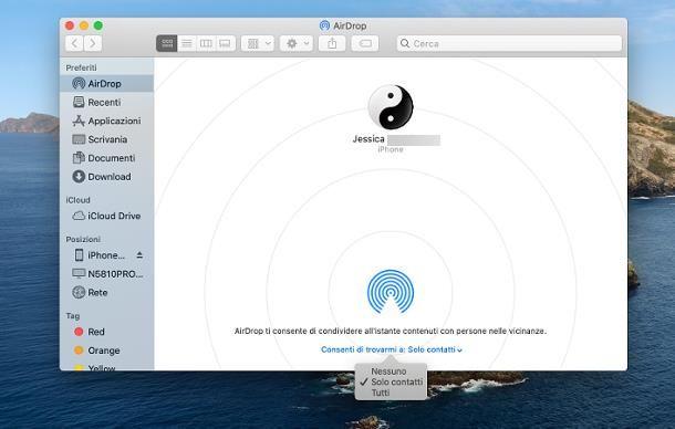 Come attivare AirDrop su Mac