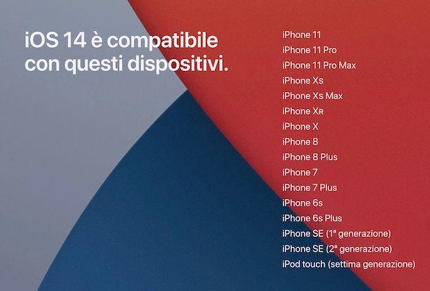 iOS 14 compatibilità