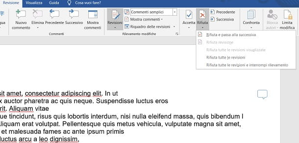 Salvare documento Word senza revisioni
