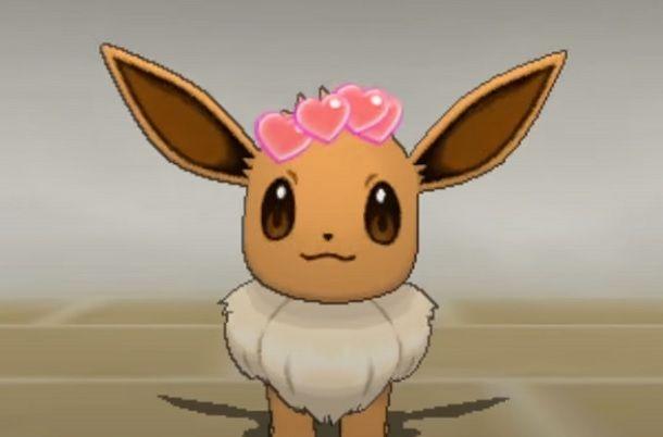 Eevee cuori Pokemon Luna