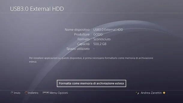 Come creare spazio su PS4