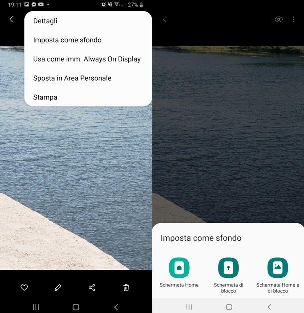 Cambiare sfondo alla Home Screen e alla schermata del Blocco Schermo di uno smartphone Samsung