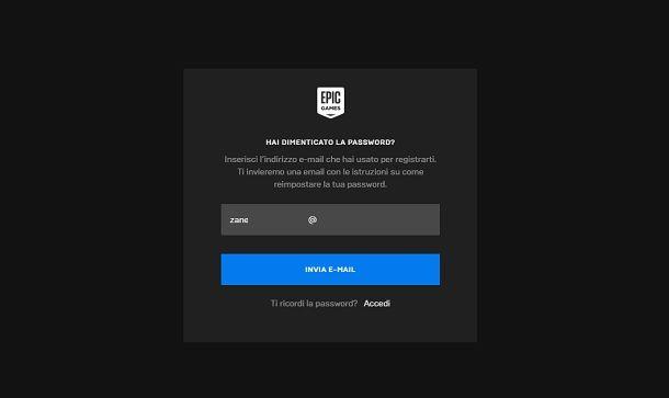 Dimenticato password
