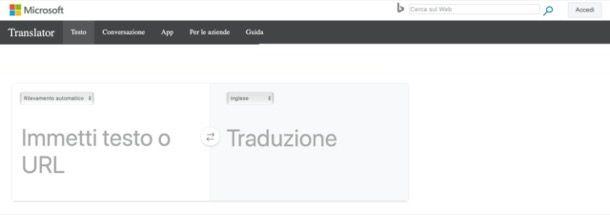 Microsoft Bing Traduttore