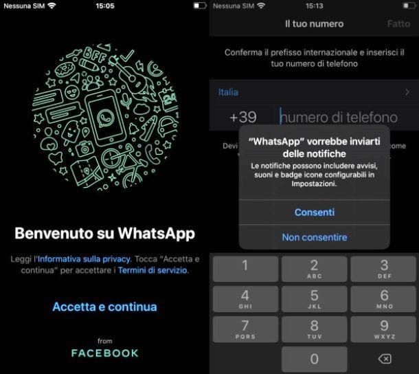 Verificare numero su WhatsApp