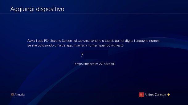 Codice univoco PS4