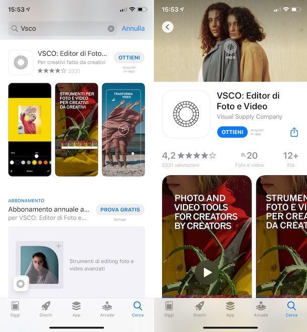 VSCO App Store
