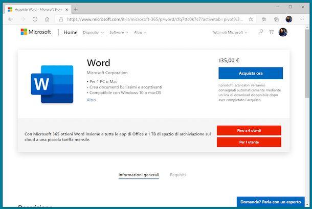 Word Microsoft Store