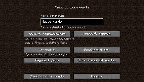 Abilitare trucchi su Minecraft Java Edition