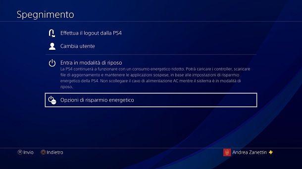 Menu nascosto PS4