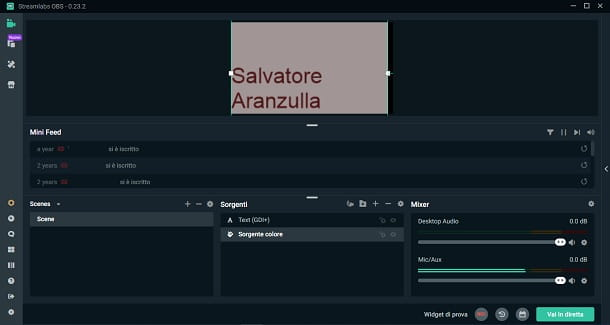 Come settare Streamlabs