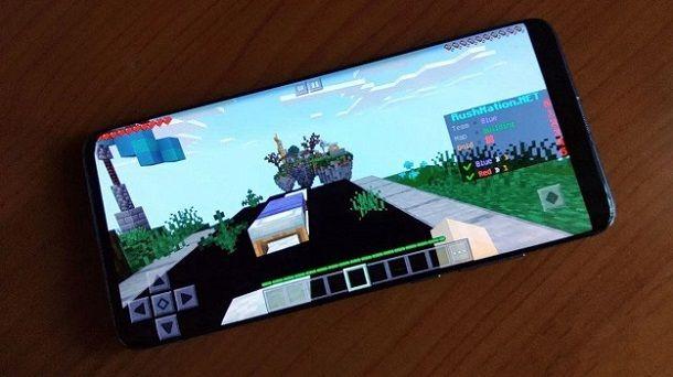 Minecraft BedWars smartphone