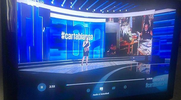 Mettere sottotitoli RaiPlay su Smart TV