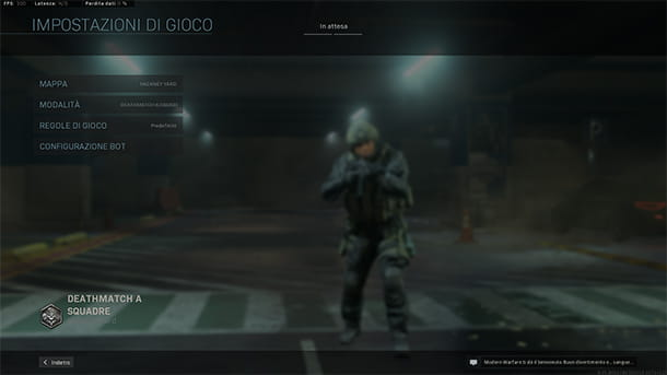 Partite personalizzate Call of Duty Modern Warfare