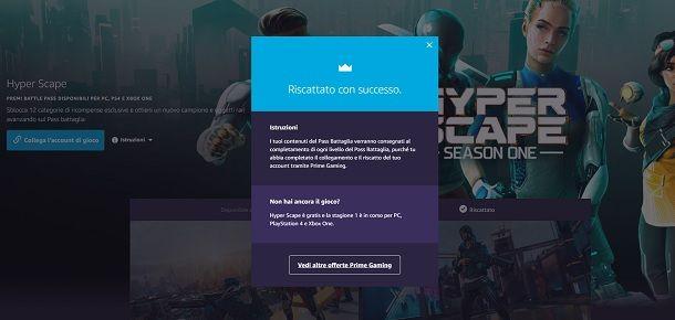 Ricompense riscattate con successo Ubisoft