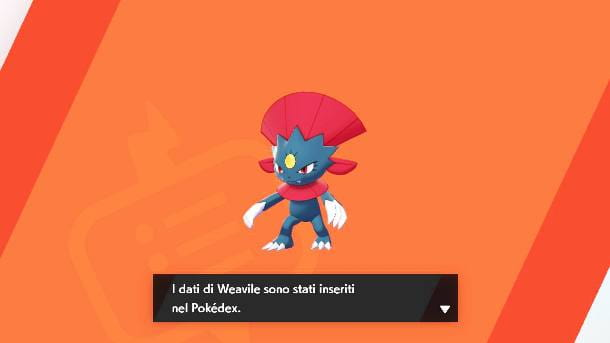 I dati di Weavile nel Pokedex
