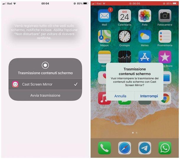 Come duplicare schermo iPhone con Chromecast