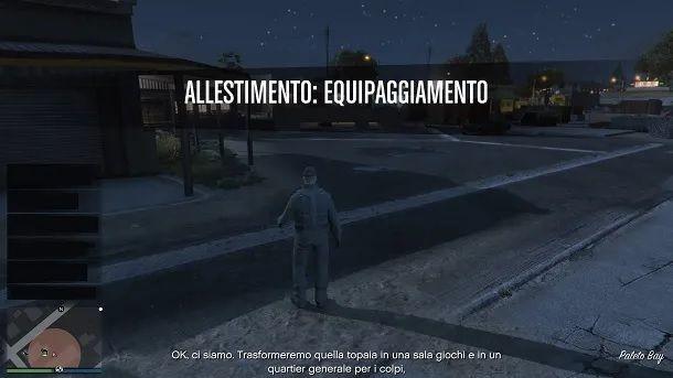 Allestimento sala giochi GTA Online