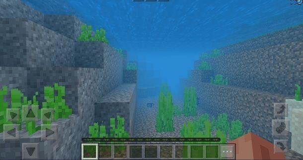 Nuotare su Minecraft PE
