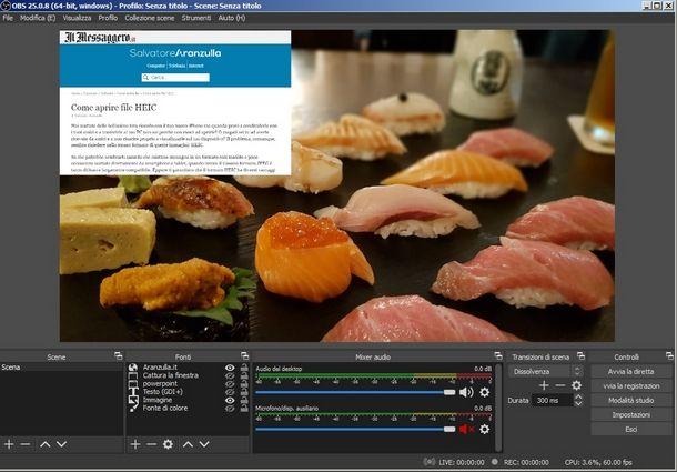 Gestire più fonti in OBS per creare belle registrazioni dello schermo