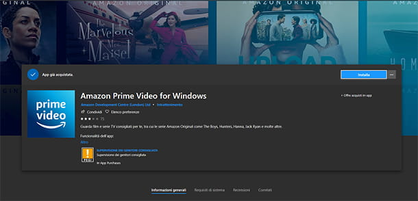 Prime Video su Windows